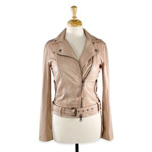 Mackage Lucia Buttery Soft Leather Moto Jacket